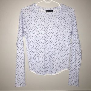Forever 21 Floral Thermal Long Sleeve Top NWT